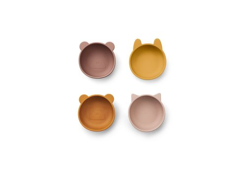 Liewood Iggy silicone bowls - 4 pack Rose mix
