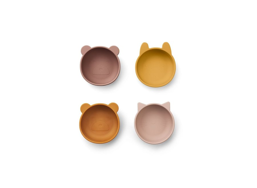 Iggy silicone bowls - 4 pack Rose mix