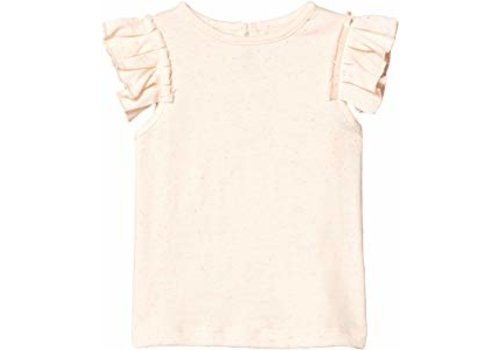 Stella McCartney Kids Ss Tee With  Frill Speckle Jers Cloud
