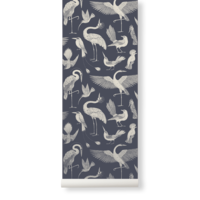 Katie Scott Wallpaper - Birds Dark Blue