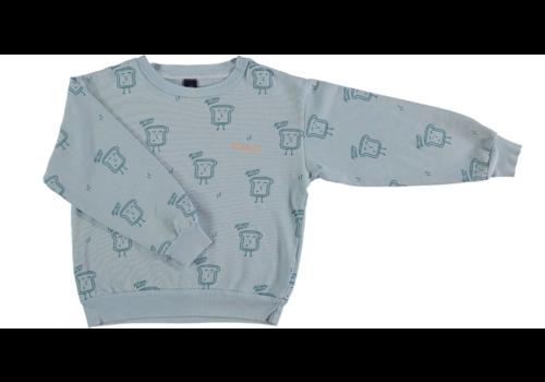 Bonmot organic Sweatshirt bakery light blue