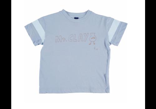 Bonmot organic T-shirt classic Mr. Clay light blue