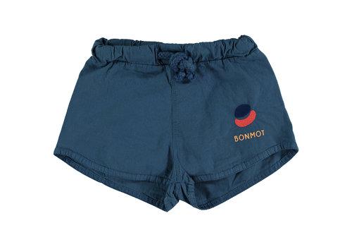 Bonmot organic Swim short paint embrodery fresh blue