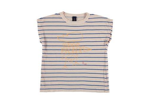 Bonmot organic T-shirt summer Big woodpeker Tan cream