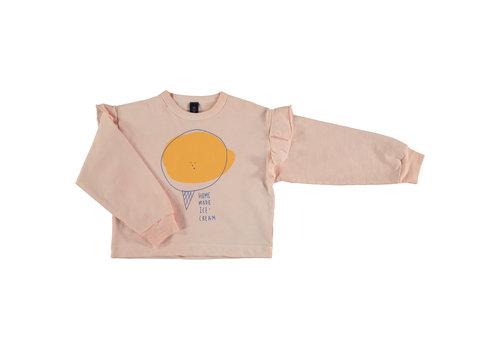Bonmot organic Sweatshirt frilles ice cream Tan cream