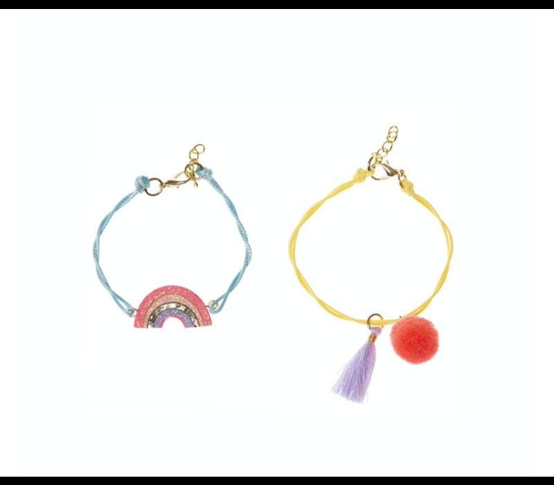 Sherbet Dip Rainbow Bracelet Set