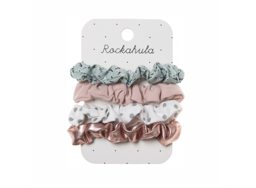 Ditsy Garden Mini Scrunchies
