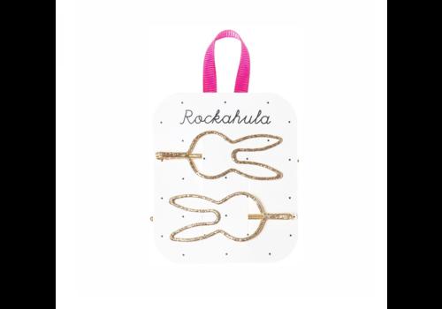 Rockahula Kids Glitter Bunny Cut Out Slides Gold