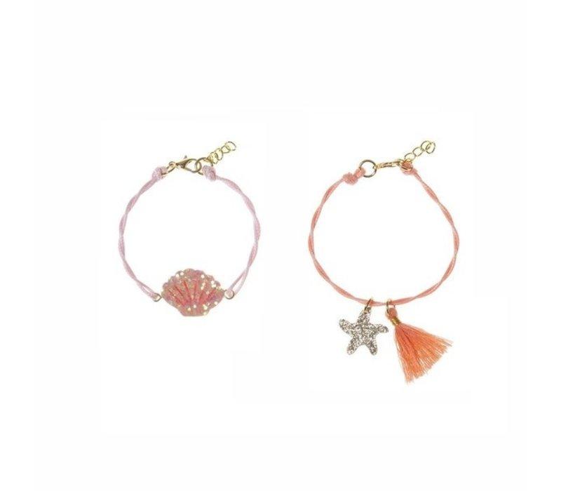 Shimmer Shell Bracelet Set
