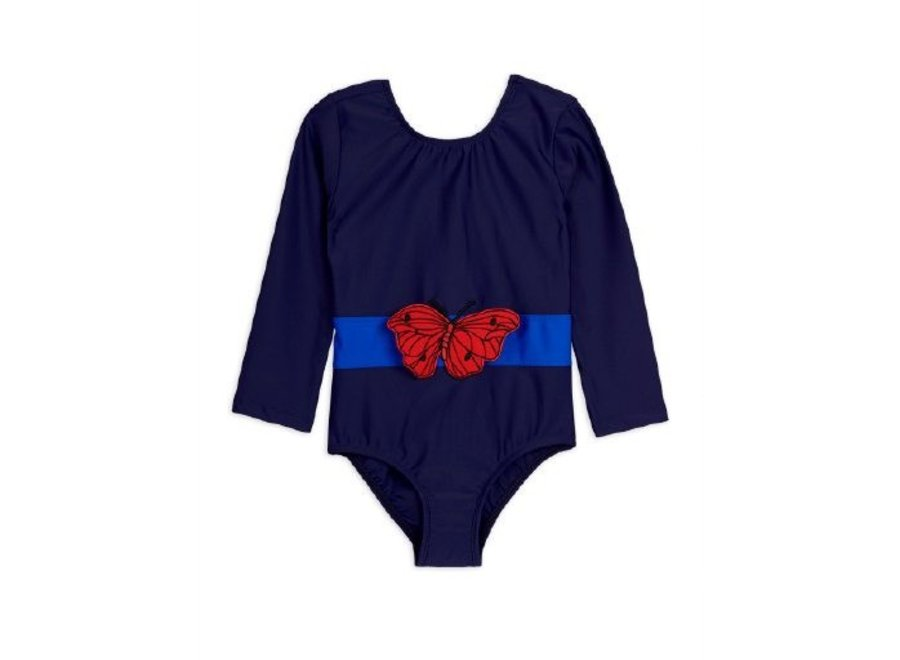 Butterfly ls swimsuit Navy