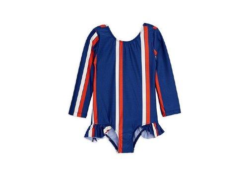 Mini Rodini Stripe ls swimsuit Blue