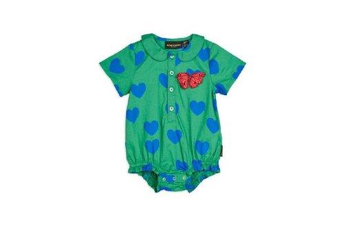 Mini Rodini Hearts woven body Green