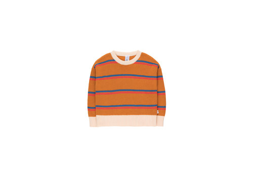 Tiny Cottons Stripes Sweater Brick/Red/Summer Navy