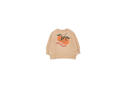 Tiny Cottons Oranges Sweatshirt Cappuccino/Brick