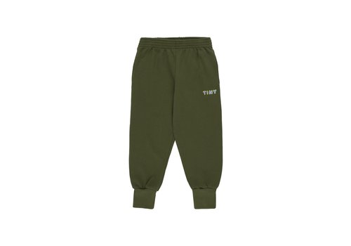Tiny Cottons Tiny Sweatpant Olive Dark Green/Cerulean Blue