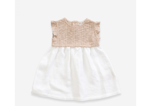 Play up Weft Dress with mix of linen and organic cotton