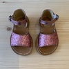 Gallucci Gallucci roze glitter sandalen