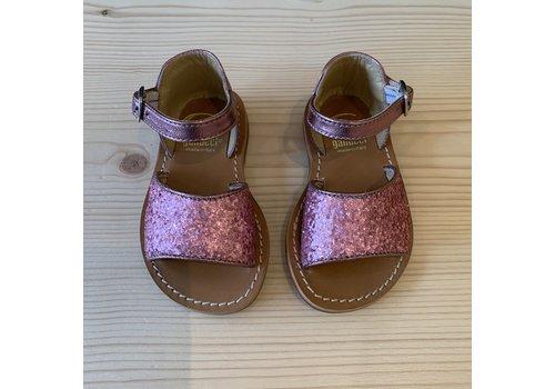 Gallucci Gallucci pink glitter sandals