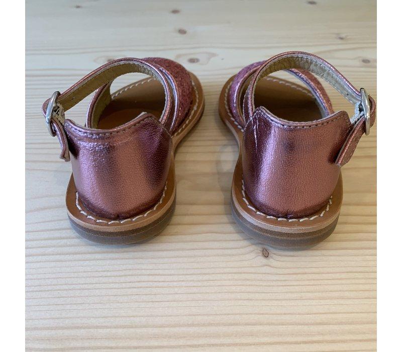 Gallucci roze glitter sandalen