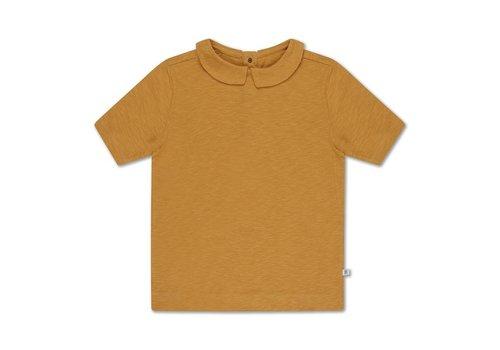 Repose AMS Tee shirt with collar sun gold