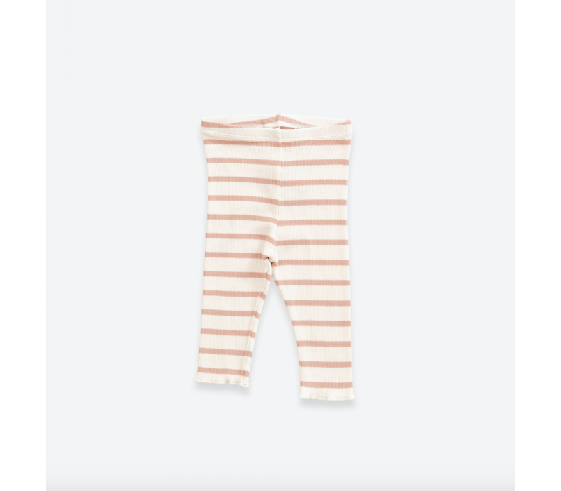 Striped leggings in organic cotton | Smooth