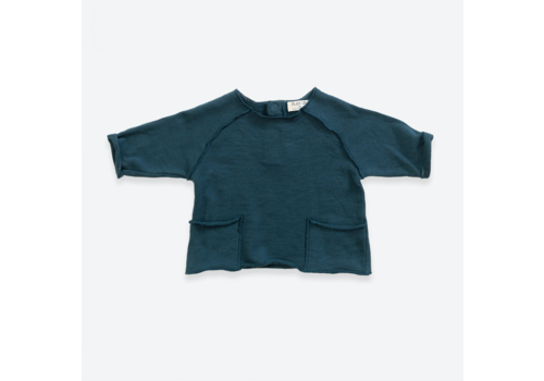 Play up Sweater in organic cotton with pockets | Deep