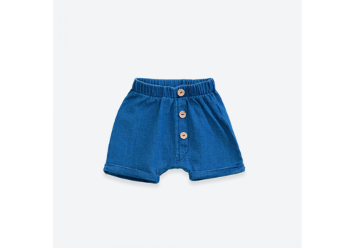 Play up Denim shorts with buttons | Denim blue