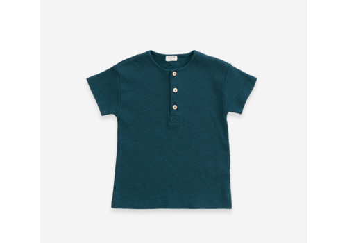 Play up T-shirt in organic cotton with wooden buttons | Deep