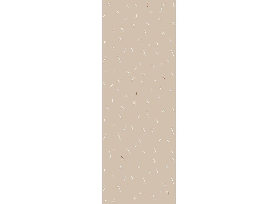 Behang Sprinkels nude
