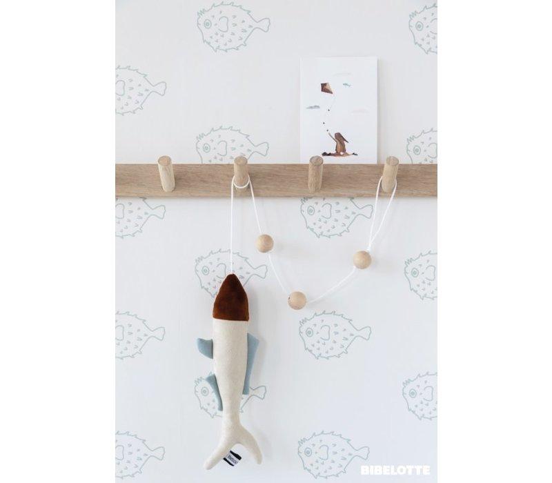 Behang Vissen zeegroen
