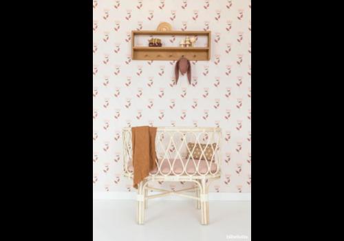 Bibelotte Wallpaper retro bloem roze
