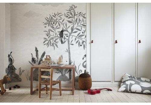 Sandberg Wallpaper Wilton Graphite Wallpaper