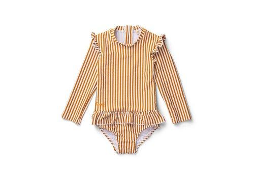 Liewood Sille Swim Jumpsuit - Y/D stripe: Mustard/white