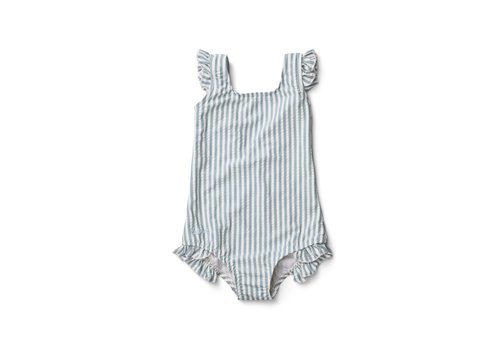 Liewood Tanna Swimsuit - Y/D stripe: Sea blue/white