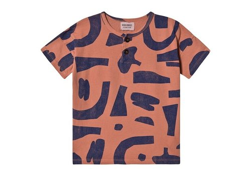 BOBO CHOSES Abstract Buttoned T-shirt Heather Rose