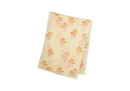 Mini Rodini Unicorns woven sarong Yellow