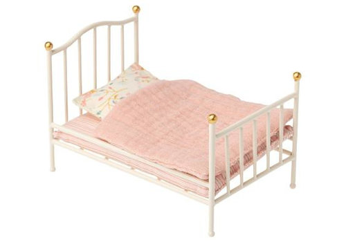 Maileg Vintage bed, Mouse - Off-white