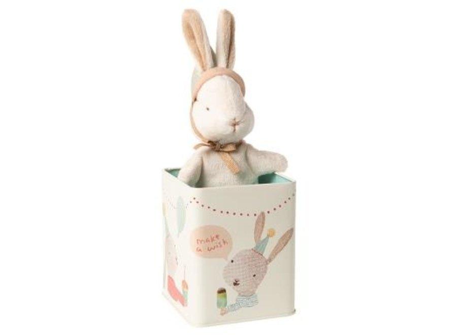 Happy day bunny in box, Small