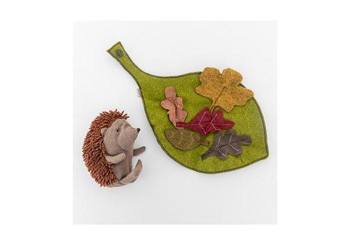 Maileg Little Hedgehog w. Leaf