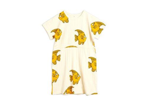 Mini Rodini Fish ss dress Offwhite