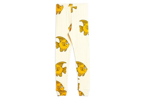 Mini Rodini Fish aop leggings Offwhite