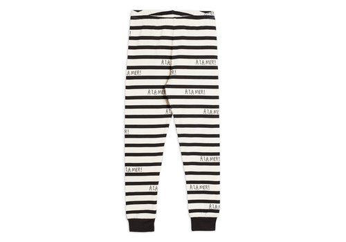 Mini Rodini A la mer leggings TENCEL™ Offwhite