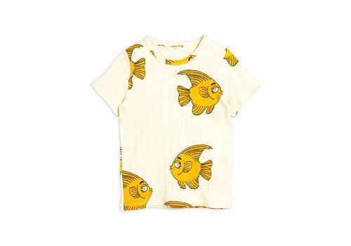 Mini Rodini Fish ss tee Offwhite