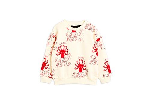 Mini Rodini Octopus aop sweatshirt Offwhite