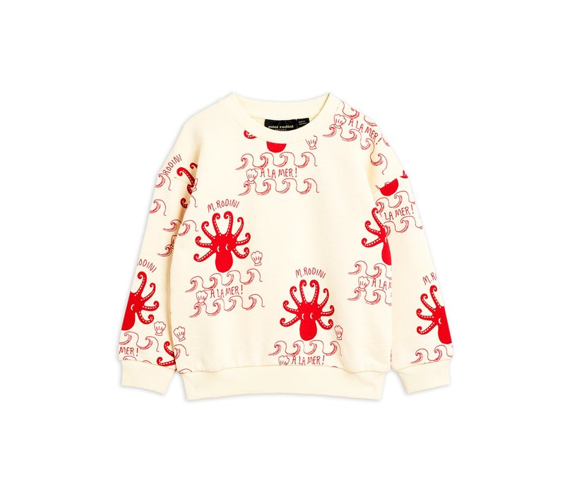 Octopus aop sweatshirt Offwhite