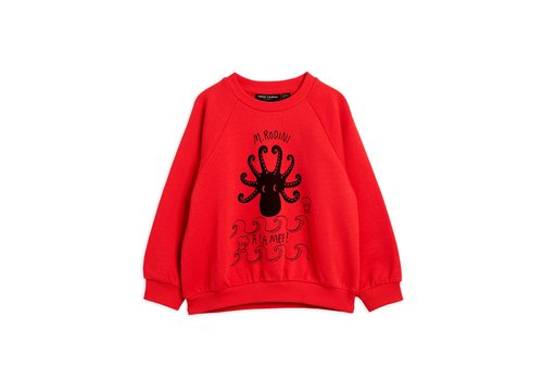 Mini Rodini Octopus sp sweatshirt Red