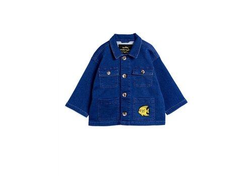 Mini Rodini Denim safari jacket Blue