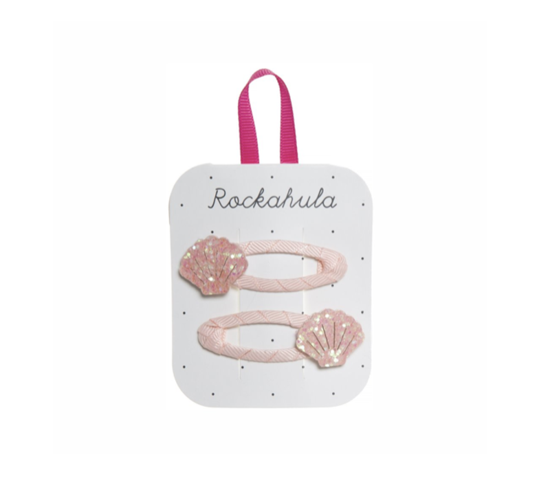 SHIMMER SHELL CLIPS PINK