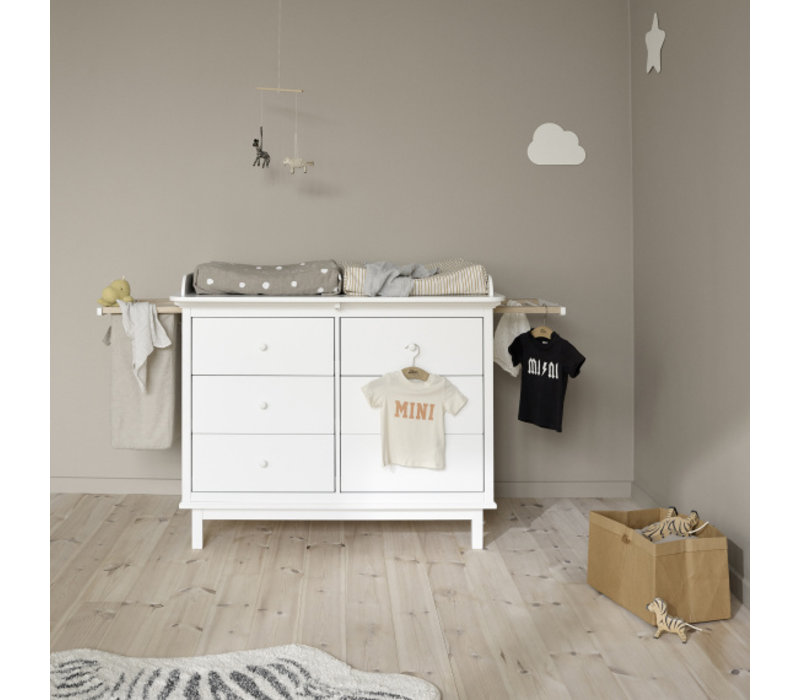 Seaside nursery dresser with 6 drawers + Seaside nursery top