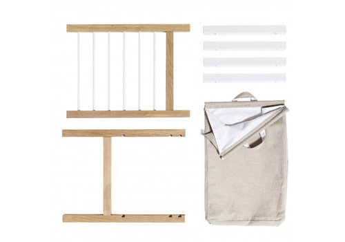Oliver Furniture 2 PULL-OUTS AND LAUNDRY BAG FOR SEASIDE DRESSER & NURSERY DRESSER WITH 6 DRAWERS